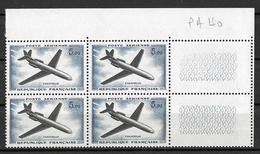 France - 1960/64 - Bloc De 4 Avec CdF -  P A 40  Caravelle 5 F. Y&T - PA 40 ** Neuf Luxe ( Gomme D'origine Intacte ) - Airmail