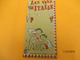 Dépliant Touristique à 6 Volets / Les Vins D'Italie/Office Italien Du Tourisme/ ITALIE/ Années 1950              DT22 - Tourism Brochures