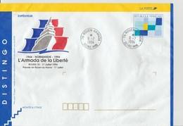 France Distingo Repiqué Armada 1994 Cachet Rouen Armada Non Voyagé Format 165X230 - Entiers Postaux