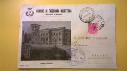 1959 BUSTA COMUNALE TEMATICA DESTINATA PROCURA REPUBBLICA BOLLO SIRACUSANA COMUNE FALCONARA MARITTIMA CON VIGNETTA - 6. 1946-.. Repubblica