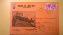 1959 BUSTA COMUNALE TEMATICA DESTINATA PROCURA REPUBBLICA BOLLO SIRACUSANA COMUNE CASTELFIDARDO CON VIGNETTA - 6. 1946-.. Repubblica