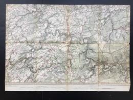Carte Topographique Militaire STAFKAART +/- 1907 Spa La Gleize Esneux Ferrieres Aywaille Comblain Au Pont Remouchamps - Topographical Maps