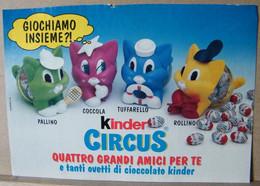 MONDOSORPRESA, PUBBLICITA' (PB16) KINDER FERRERO, KINDER CIRCUS - Kinder & Diddl