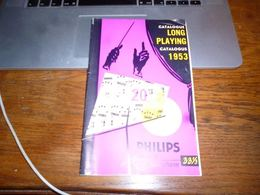 Catalogue Disques Philips Platen 1953 Long Playing Minigroove 33 1/3 44p - Musique & Instruments