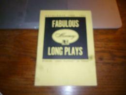 Catalogue Disques Mercury Platen 1950 1951 Long Plays 32p - Musique & Instruments