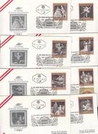 AUSTRIA / AUTRICHE 1969 * VIENNA STATE OPERA COMPLETE SET OF 8 FDC'S - FDC
