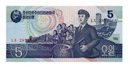 Corea Del Nord - 1998 - Banconota Da 5 Won - Nuova - (FDC12170) - Corea Del Nord