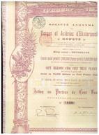 """Action Ancienne - Sté Anonyme Des Forges Et Aciéries D' Ekaterinoslaw """"Donetz"""" - Titre De 1899 - Rusia"""