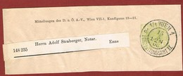 Alpenverein D O A V Ganzsache Streifband   1906;  2 Heller Merkur - Postwaardestukken