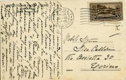 VII CENTENARIO ANTONIANO 30 C. Isolato Su Cartolina Istituto Sacro Cuore Napoli Rione Amedeo  Cappella - 1900-44 Vittorio Emanuele III