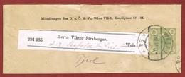 Alpenverein D O A V Ganzsache Streifband   1907;  2 Heller Merkur - Postwaardestukken