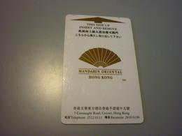 Hong Kong Mandarin Oriental Hotel Room Key Card - Cartas De Hotels