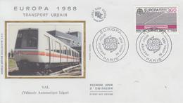 Enveloppe  FDC  1er  Jour   FRANCE   EUROPA    1988 - 1988