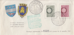 Enveloppe  BELGIQUE   EUROPA  Jumelage  Philatélique  Européen   LA  LOUVIERE  -  LENS   1960 - Europa-CEPT