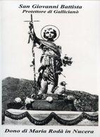 Gallicianò Di Condofuri, RC - Santino Poster SAN GIOVANNI BATTISTA, Dono Di Maria Rodà In Nucera - PERFETTO P78 - Religione & Esoterismo