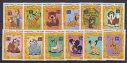 GAMBIA 1994 - Disney Dogs - Mi 1819-30; CV=26 € - Cani