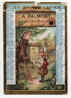 Petit Calendrier 1883 - PEZENAS - Au BON MARCHE - Rue Conti - Calendriers