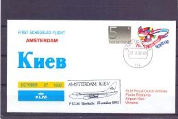 Nederland - KLM  - First Scheduled Flight Amsterdam  - Kiev - 27/101992  (RM13044) - Avions