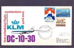 Nederland - KLM First Scheduled Flight Amsterdam - New York - 19/12/1972  (RM13053) - Avions