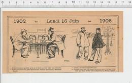 2 Scans Humour Généalogie Monsieur Truffe Jeu De Cartes Manille Ivrogne Voie Publique Ivrognerie Campagne Médecin 223E - Vieux Papiers