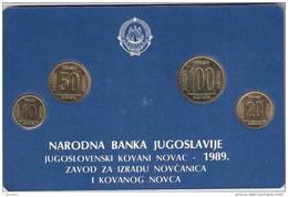 Yugoslavia 1989. Official Mint Set Of National Bank Of Yugoslavia  Coin Set - Joegoslavië