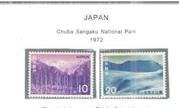 Giappone PO 1972 Chuba Nat.Park. Scott.1120+1121 See Scan On Sott.Page; - 1926-89 Imperatore Hirohito (Periodo Showa)