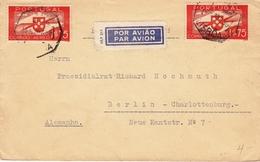 Lettre Lisbonne Lisboa Portugal 1939 Berlin Deutschland Poste Aérienne Correio Aero - Brieven En Documenten
