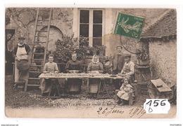 156D45 EN GATINAIS LA RECOLTE DU SAFRAN EPLUCHAGE TTB - Frankrijk
