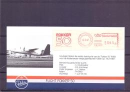 Nederland -  Fight Fokker 50 - Schiphol 13/2/87   (RM13224) - Airplanes