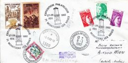 FRANCE - 1982 - Conseil De L'Europe - Lettre De Montceau Les Mines Pour Vienne Puis Strasbourg En Poste Restante - - France