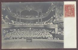Cp Photo à Identifier  Laos Salle De Spectacle Théâtre En 1907 Militaire Officier De Marine Militaires * Texte Au Dos - Laos