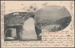 Axenstrasse & Brunnen Und Die Mythen, Schwyz, 1901 - Photoglob AK - SZ Schwyz