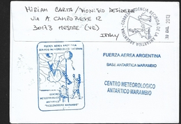 "ANTARTIDE ARGENTINA  2011-2013 "" BASE MARAMBIO ""  TRAVELLED NICE CANCELLED - Stamps"