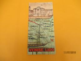 Dépliant  Touristique à 6 Volets/ VENISE LIDO/Monuments Et Manifestations/ Années 1950              DT26 - Tourism Brochures