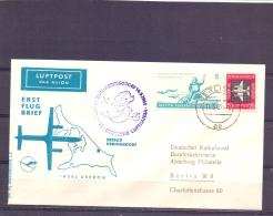 D.D.R. - Erst Flug Brief -  Lufthansa -  Insel Usedom - 14/5/1962  (RM13254) - Flugzeuge