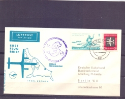 D.D.R. - Erst Flug Brief -  Lufthansa -  Insel Usedom - 14/5/1962  (RM13254) - Avions
