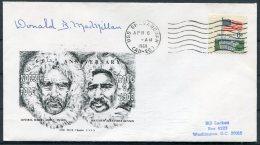 1969 USA Peary Arctic Expedition Ship Cover. Donald B MacMillan SIGNED. U.S.S. Shenandoah - Polar Explorers & Famous People