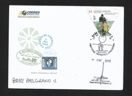 ANTARTIDE ARGENTINA BASE BELGRANO II 2013 Eith The Firm Of Horacio Siles - Stamps