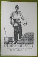 Grand Ex-libris Illustré XXème - Belgique - Albert COLLART Par Rick Dupond - Ex-libris