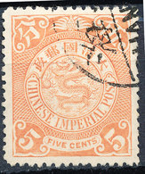 Stamp China Coil Dragon 1898-1905  5c Used Lot#129 - China