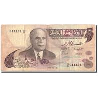 Billet, Tunisie, 5 Dinars, 1973, 1973, KM:71, TB+ - Tunisie