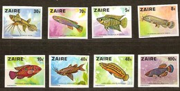 Zaire 1978 OCBn° 918-926 ND Ongetand *** MNH Cote  17,50 Euro Faune Poissons Vissen Fish - Zaire
