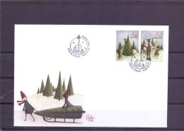 Christmas  - FDC - Michel 430-31 - Mariehamn 10/10/2016  (RM13556) - Aland