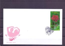 Red Rose - FDC - Michel 2877 - Bangkok  5/2/2010  (RM13618) - Thaïlande