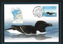 PORTOGALLO 2008  International Polar Year - Birds  El Alca Común (Alca Torda) Es Una Especie De Ave Caradriforme - Stamps