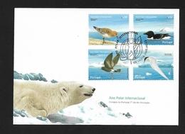PORTOGALLO 2008  International Polar Year - Birds  ARTIC  FDC - Stamps