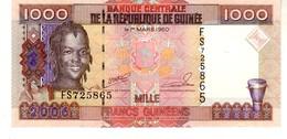 Guinea P.40 1000 Francs 2010  Unc - Guinée