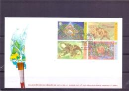 25th Asian Intern.  Stamp Exhibition - FDC - Michel 2881-84 - Bangkok 25/2/2010  (RM13628) - Thaïlande