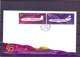 50th Anniversary Thai Airways International - FDC - Michel 2894-97 - Bangkok 1/5/2010  - (RM13652) - Thaïlande