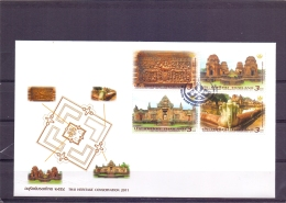 The Heritage Conservation 2011 - FDC - Michel 3022-25 - Bangkok 2/4/2011  (RM13688) - Thaïlande